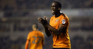 For Wednesfield Wolf, Boly smiling in Wolves colours