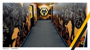 New tunnel painting, credit to wolves fc facebook for pic