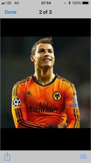 Ronaldo in Wolves top