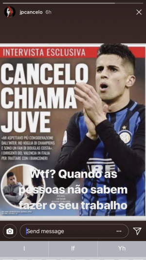 Read Cancelo loves Juventus and then his quote I believe says wtf people need to know how to do their job. read into this what you like. What do people make of this?